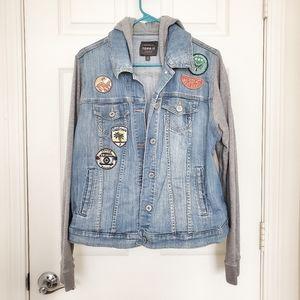 Torrid Denim Hooded Jacket patches